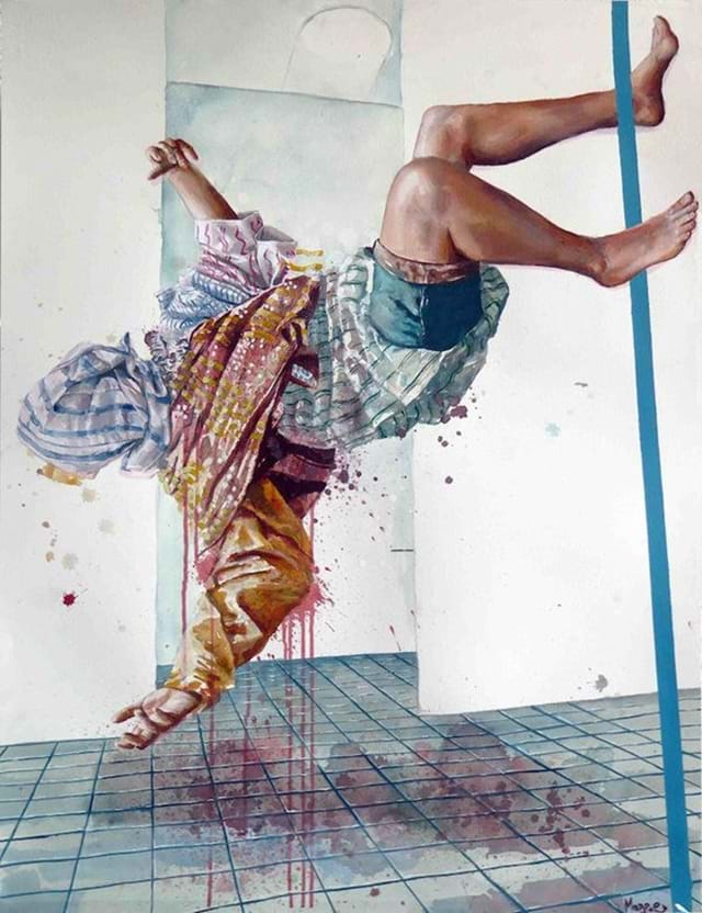 Fintan-Magee_-The-Overdose-_-Acrylic-and-oil-on-paper-_-65x90-cm-2016